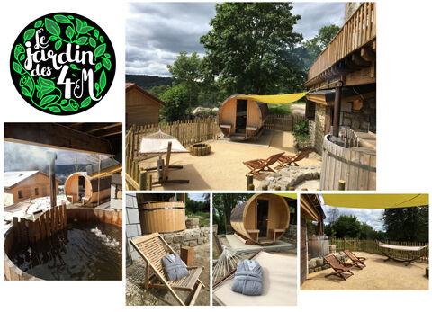 Espace Détente extérieur – Bain nordique chauffé au feu de bois et sauna